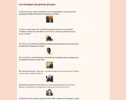 تصنيف المجلة لولد اداعة ضمن إداريي المؤسسات الكبيرة