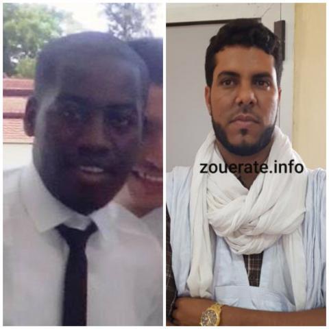 من اليمين محمد ولد علوات ويوسف ولد باييني