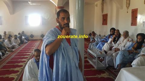 إمام المسجد خلال كلمته