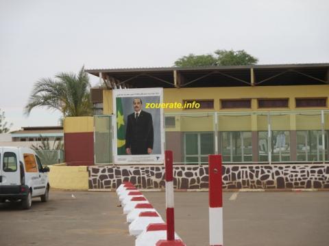 """صورة الرئيس على واجهة فندق تازاديت التابع ل""""اسنيم"""""""