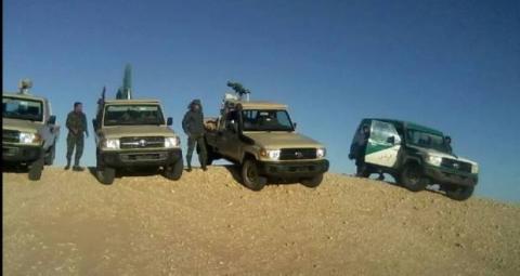 سيارات وافراد من الدرك الصحراوي - الصورة من الانترنيت