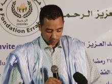 بدر ولد عبد العزيز خلال نشاط سابق لهيئة الرحمة