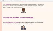 تصنيف المجلة ولد اداعة ضمن رجال الأعمال الأفارقة