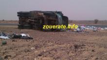 انقلاب شاحنة نقل موريتانية-أرشيف ازويرات إنفو