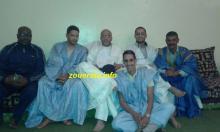 النائب حمود ولد المالحة خلال لقائه الليلة مع قادة فريق قدماء ازويرات