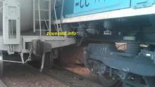 صورة من ارشيف ازويرات إنفو لتصادم سابق بين قطارين قرب زويرات