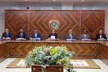 مجلس الوزراء خلال اجتماعه اليوم -(الصورة للوكالة الموريتانية للانباء)