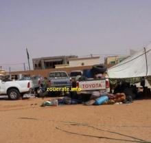 سيارات منقبين عن الذهب اثناء احتجازهم لدى الدرك نهاية سبتمبر الماضي