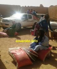جانب من توزيعات النائب محمد سالم اليوم في بئر ام اكرين