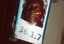 صورة الجثة التي أعلن عنها مساء الأحد الماضي على انها للحاج الموريتاني المفقود ابيه ولد صمبيت