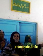 وقفة احتجاجية لمجموعة من النسوة على تضخم فواتير الكهرباء في بئر ام اكرين(بتاريخ 2015/10/07)-أرشيف ازويرات إنفو