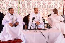 صورة من لقاء الاطر اليوم مع الرئيس في ازويرات (الصورة لموقع الصحراء)