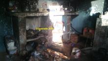 صورة من آخر حريق في افديرك في 17 من الشهر الماضي