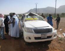 حادث سابق لسيارة نقل قرب ازويرات-ازويرات انفو/ أرشيف