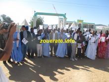 المعلمون في آخر وقفة اجتجاجية للنقابة الوطنية للمعلمين أمام الولاية  في ازويرات