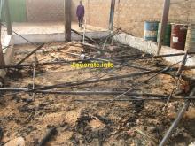 مخلفات أحد حريقي اليوم الأربعاء في افديرك