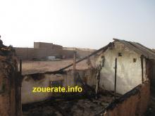 آثار أحد حرائق اليوم في افديرك وقد طال منزل ادوم ولد ابده