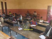 تلاميذ في ازويرات أثناء خوضهم مسابقة دخول السنة الأولى إعدادية-أرشيف