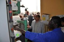 محطة تحلية المياه في بئر ام اكرين خلال زيارة سابقة لرئيس الجمهورية.