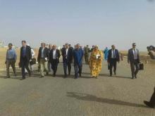 جانب من حفل وضع الحجر الأساس-(الصورة للمستقبل الصحراوي)